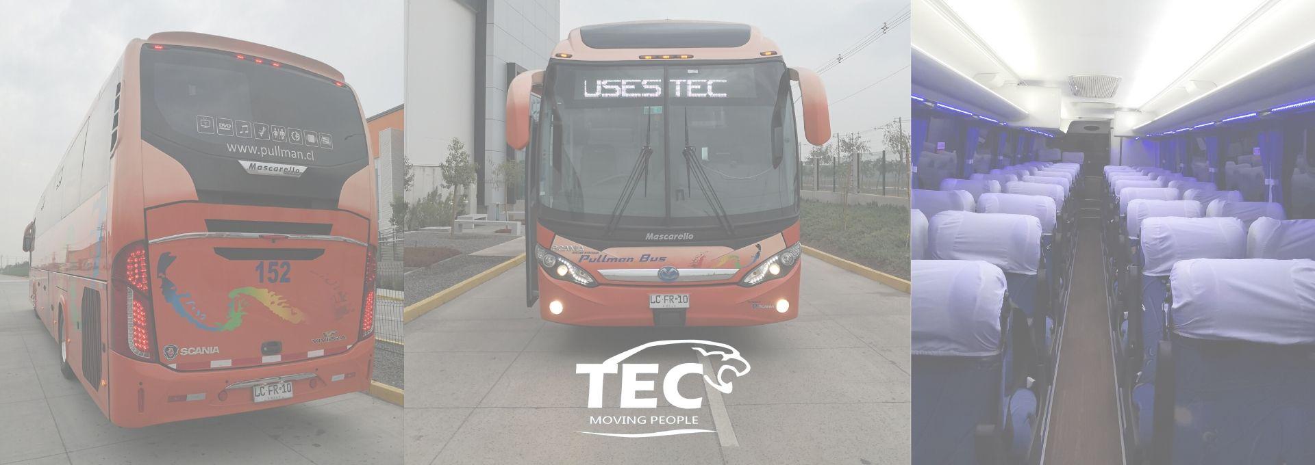 transporte de personal, arriendo de buses, viajes especiales, traslados ejecutivos, pullman bus